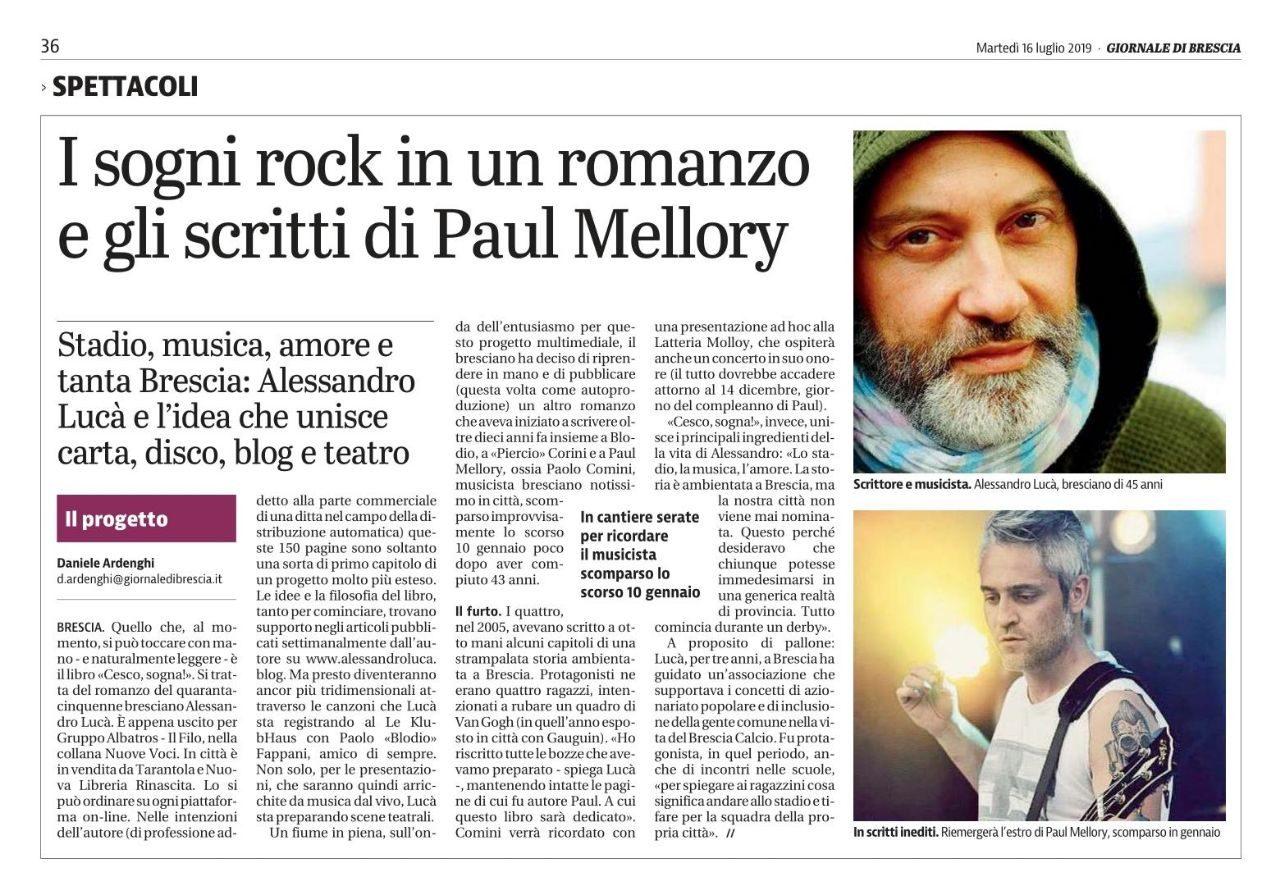 Giornale di Brescia – 16 luglio 2019