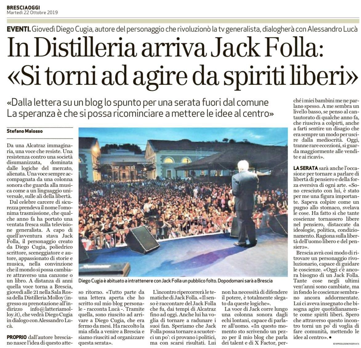 Jack Folla a Brescia