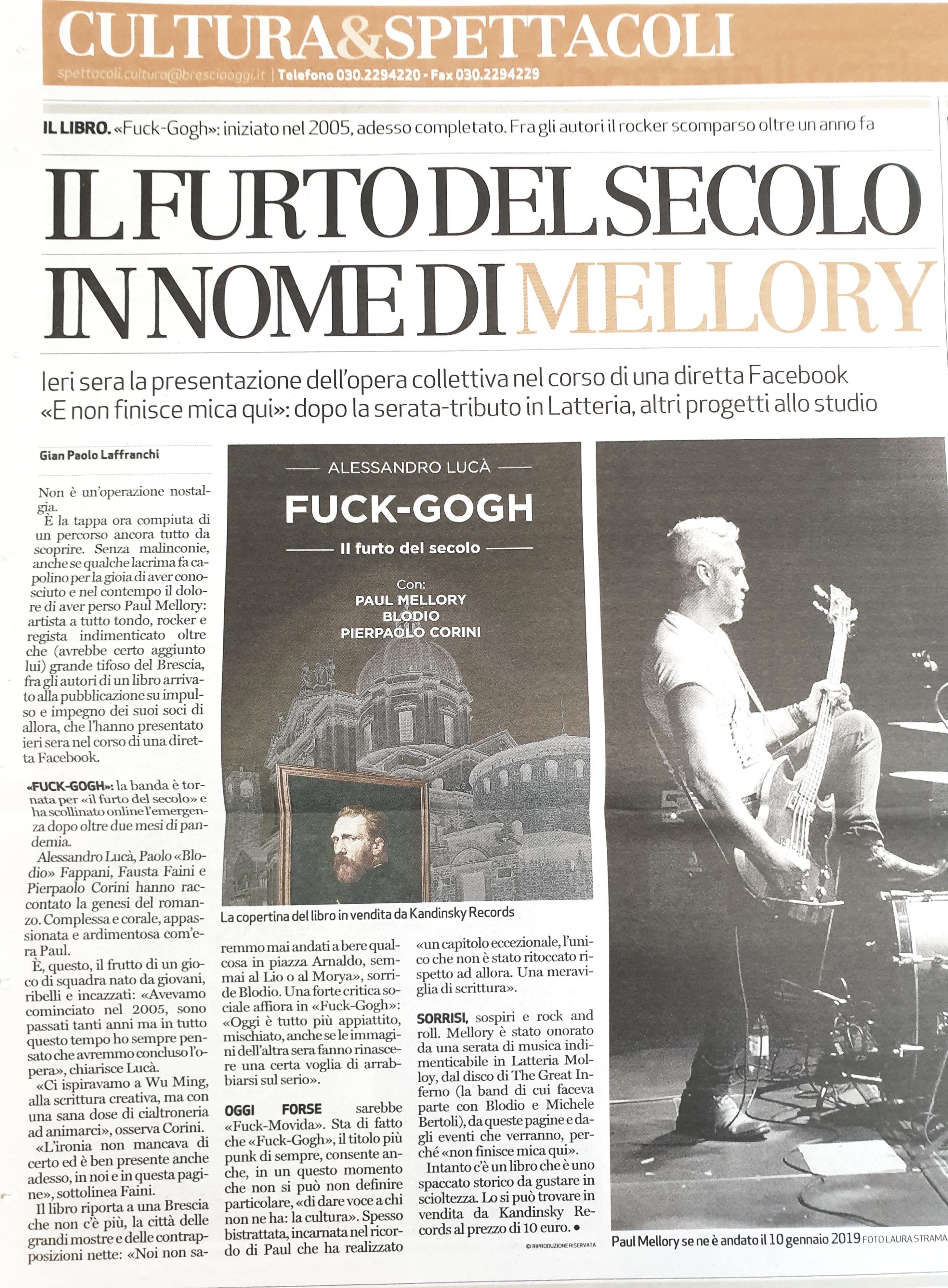 Fuck-Gogh su Bresciaoggi